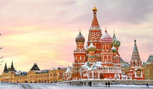 Quảng trường Đỏ tại Nga nổi tiếng thế giới